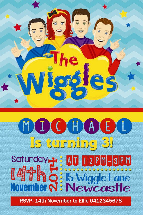 The Wiggles Birthday invitation
