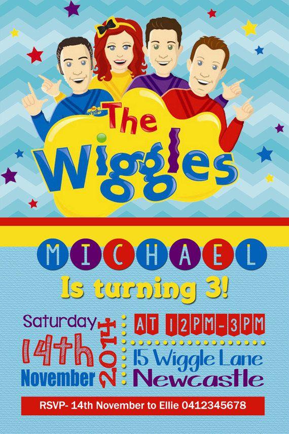 The Wiggles Birthday invitation Boys by JadeADigitalInvites