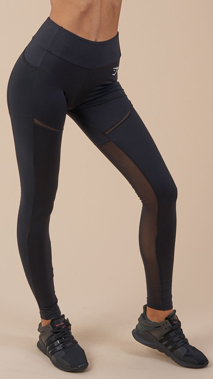 3c476b4fc4efb2 With a flattering high waist, supportive waistband and concealed pockets to  the side, the Simply Mesh Leggings are stylishly functional.