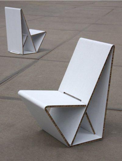 one piece cardboard chair!