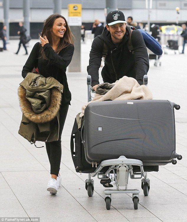 Michelle Keegan and Mark Wright look giddy ahead of flight to LA | Daily Mail Online