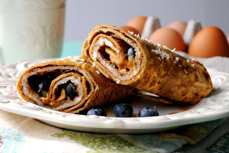 Enjoy a healthy french toast breakfast at home or on the go with this easy wrap that gives you 15g of protein per serving. @pinterest