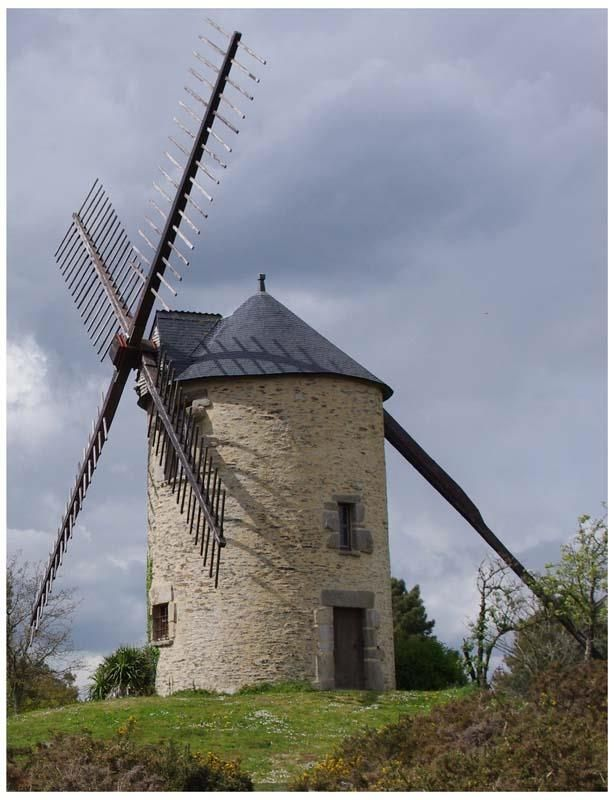 Moulin de Saint-Jacut-Les-Pins ~ Bretagne, Morbihan                                                                                                                                                                                 Plus