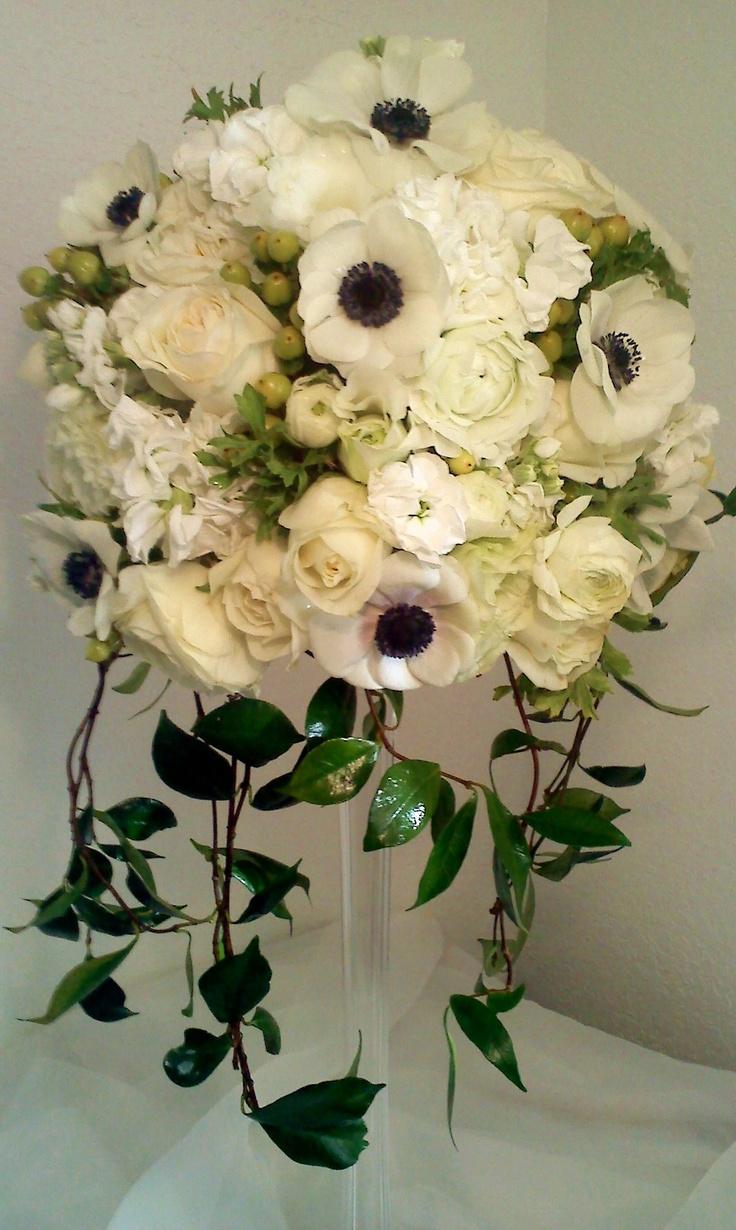 Fantasy Flowers & More ~ Anemone Wedding Centerpiece. www.fantasyflowersandmore.com