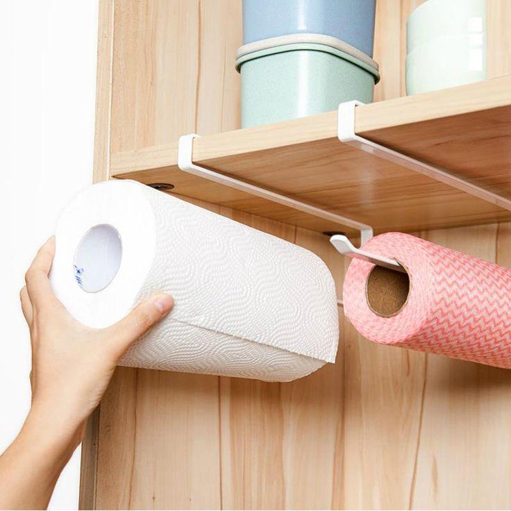 688,91 руб.  Практические Кухня туалетной бумаги вешалка для полотенец держатель рулона бумажных полотенец Шкаф подвесной полке организатор ванная комната кухонные принадлежности купить на AliExpress
