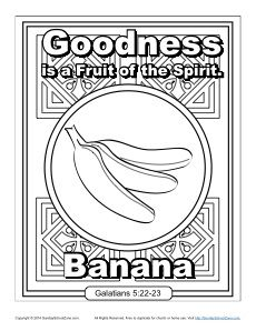 fruit of the spirit goodness coloring page