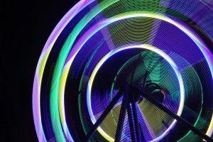 Nuit Blanche Toronto 2013: Ferris Wheel, Katharine Harvey. Light Sculpture at University Avenue & Dundas Street West