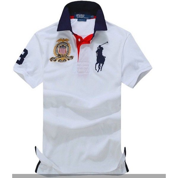 Polo Ralph Lauren Men's Mesh Fabric USA Polo Team CUSTOM FIT Shirt found on Polyvore featuring polyvore, men's fashion, men's clothing, men's shirts, men's polos, mens polo shirts and mens mesh shirt