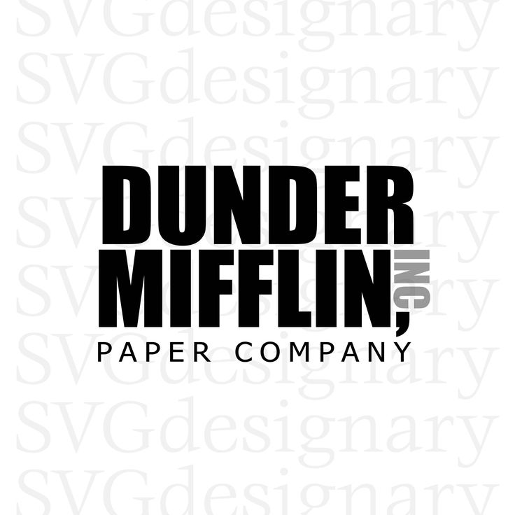 Excited to share the latest addition to my #etsy shop: Dunder Mifflin Paper Company (The Office TV Show, Logo, Michael Scott, Dwight, Bears, Beets, Battlestar Galactica) SVG PNG Download http://etsy.me/2iICpY6 #supplies #black #cardmakingstationery #gray #dunder #mifflin #the #of
