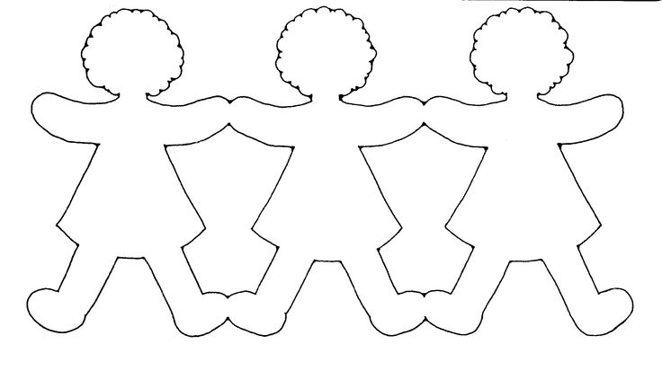 Paper Doll Chain Template #craft                                                                                                                                                                                 More