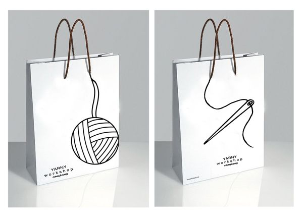Shopping Bag Designs by Zemeta Choi, via Behance