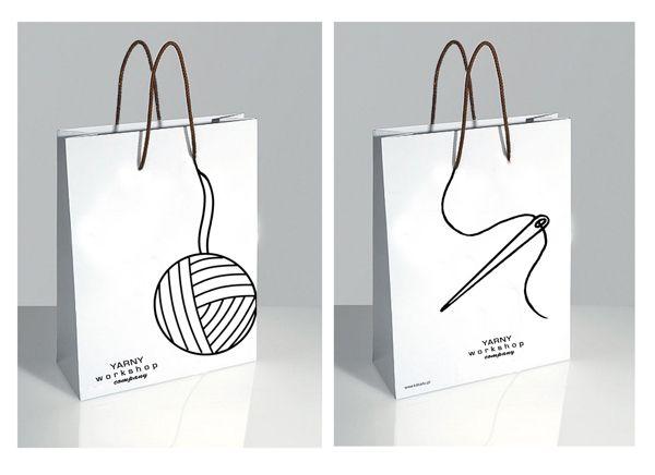 Shopping Bag Designs by Zemeta Choi, via Behance