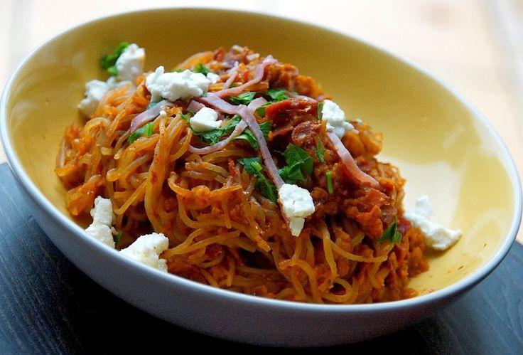 Bienvenue chez Spicy: Konjac pasta arrabiata