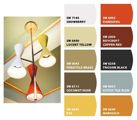 95 Best Mcm Colour Schemes Images On Pinterest