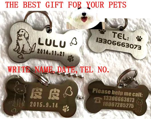 high quality stainless steel engraving carve dog name tel tag cat dog puppy pet ID tag 2X4CM permanent memory pet tag incisione - http://jewelryfromchina.com/?product=high-quality-stainless-steel-engraving-carve-dog-name-tel-tag-cat-dog-puppy-pet-id-tag-2x4cm-permanent-memory-pet-tag-incisione
