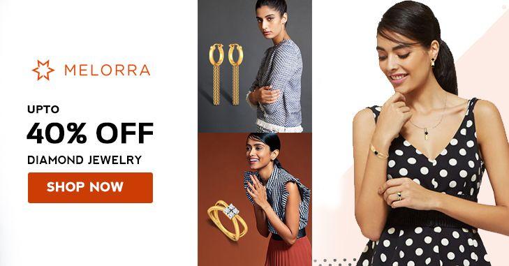 Buy Diamond 💎Designer #luxuryjewellery online @Melorra_com Get 40% Discount 💍#fashion #jewelry #couponzeta #offers #thursdaythoughts #discountcode #coupons