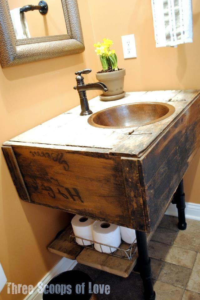 Bathroom Made Of Repurposed Materials Funky Junk