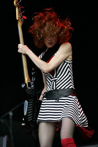 Melissa Auf Der Maur, bass player from Hole and the Smashing Pumpkins. I always wanted to play like her...I tried.