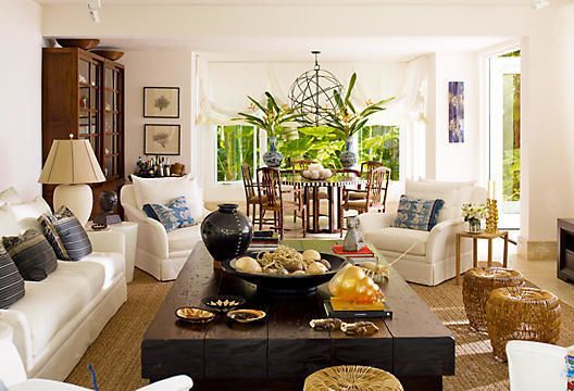 Loooove this room - the proportions, the chunky furniture, the textures and colour palette...