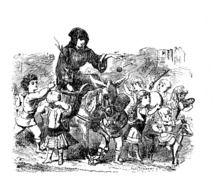 Tante noel arie | La tante Arie ou Airie avec son âne Marion chargé de cadeau de Noël ...