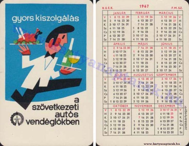 1967 - 1967_0117 - Régi magyar kártyanaptárak