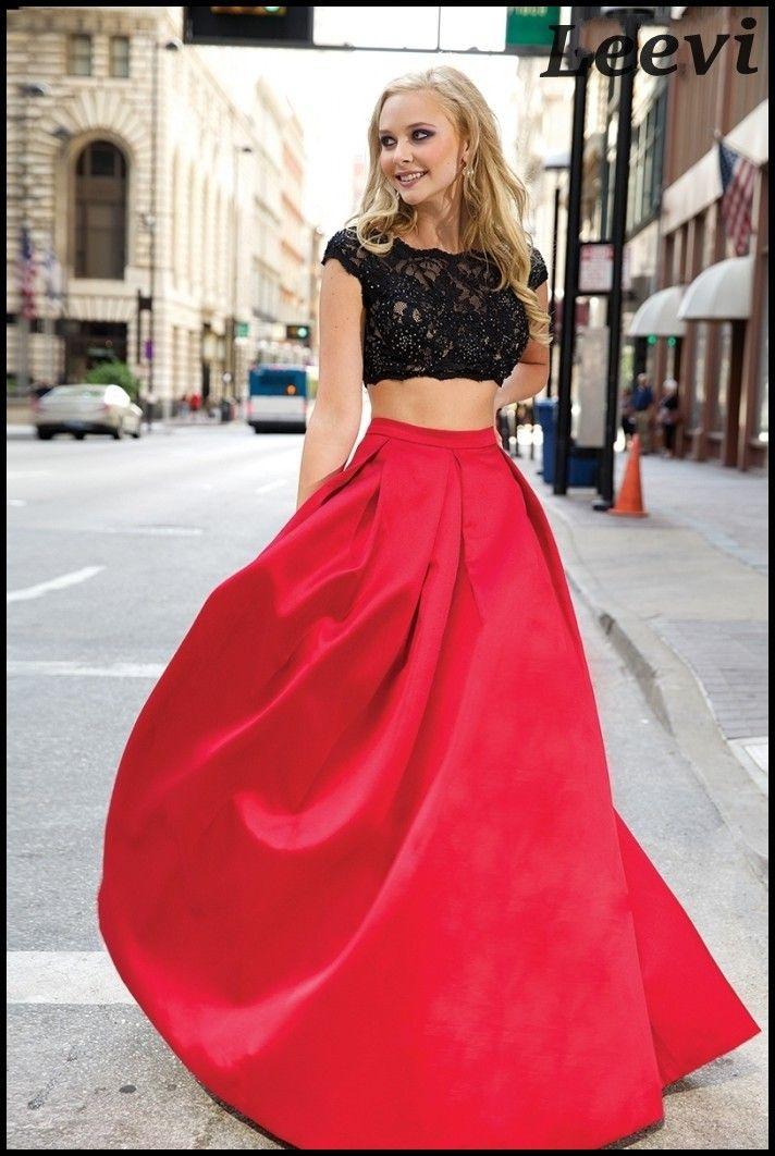 La manga del casquillo 2 unidades Red De encaje Sexy Vestido 2015 barato De dos piezas larga espalda abierta Prom vestidos para ocasiones especiales Vestido De Baile en Vestidos de Gala de Bodas y Eventos en AliExpress.com   Alibaba Group