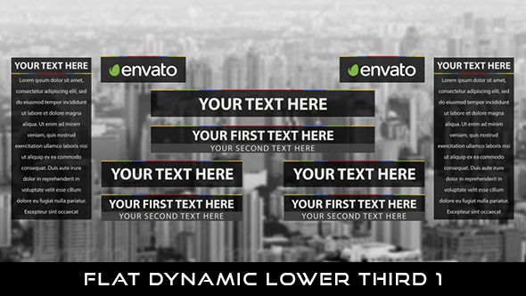 Flat Dynamic Lower Thirds 1  10 Lowerthirds & 2 Transition | Full HD 1920×1080 | Quicktime PNG alpha codec | Each 10 seconds (Lower Third) & 1 second (Transition).  Download it here : https://videohive.net/item/flat-dynamic-lower-thirds-1/20962970  #videohive #motiongraphic #aftereffects #lowerthird #broadcast #caption #color #corporate #elegant #flat #modern #presentation #professional #simple #television #text #title #youtube