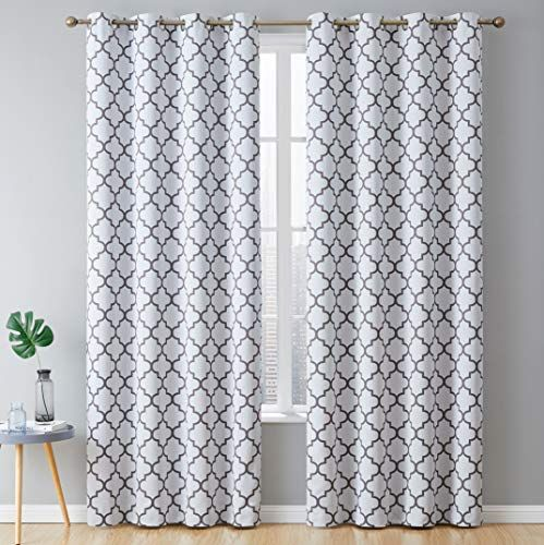 Lattice Print Thermal Insulated Blackout Curtains In 2020 Grommet Curtains Panel Curtains Curtains And Draperies