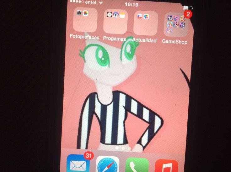 Pink Spot en pantalla de iPhone