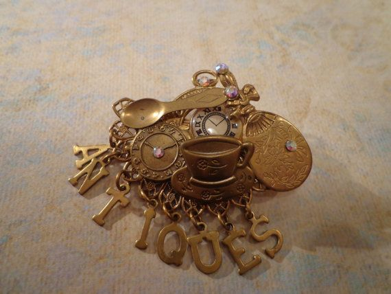 Cute Steam Punk Handmade Vintage Brooch by PipersEmporium on Etsy, $25.00