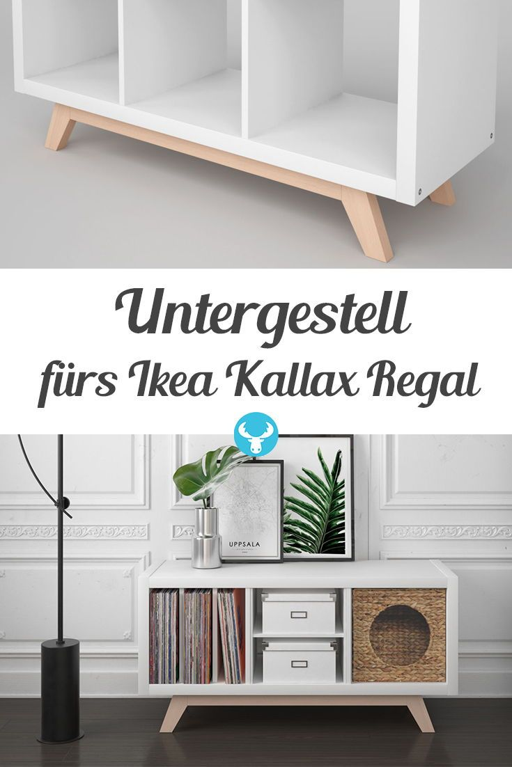 Der Holzsockel BOKK bringt Ihr Ikea Kallax Regal zurück in die 50er Jahre …   – IKEA Hacks