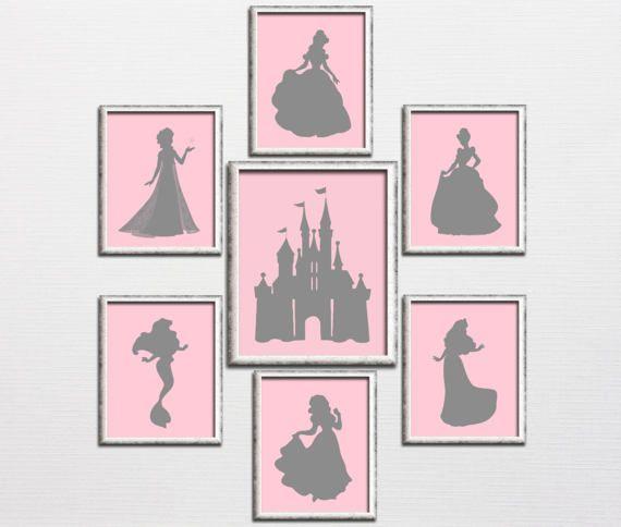 Princess nursery printable Disney inspired by HappyPrintCreations