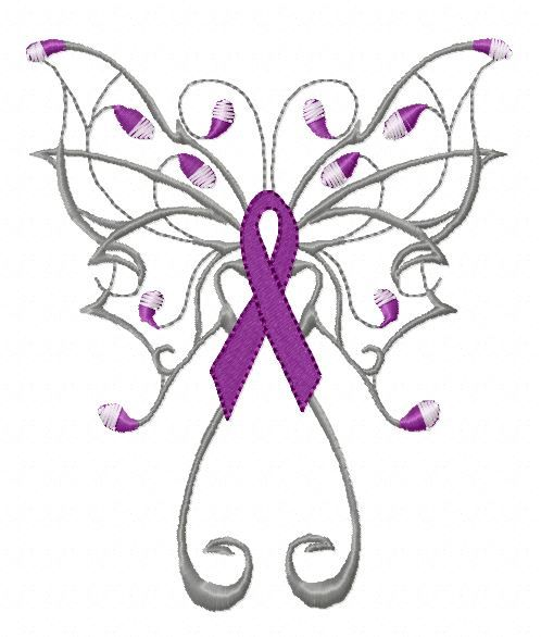 Lupus awareness machine embroidery ribbon. I'm sure this ...