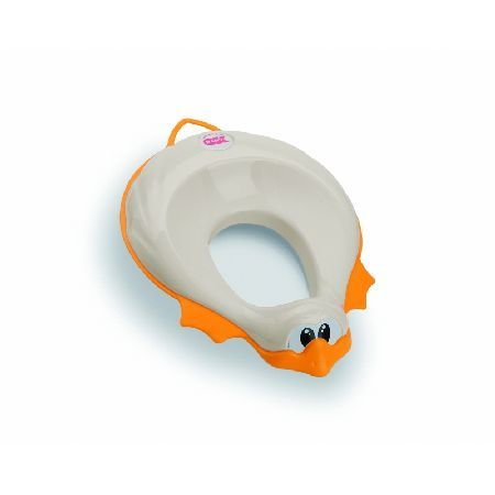 Ok Baby Ducka Toilet Training Seat-White Ducka encourages independence and confidence in a child whilst they toilet train. The fun duck shaped seat fits over most standard toilet seats, providing extra comfort whilst reducing the toilet seat http://www.MightGet.com/march-2017-1/ok-baby-ducka-toilet-training-seat-white.asp