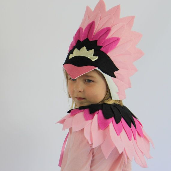Our new Bird Deluxe sets are a little bit special and very gorgeous. Both the Swan & Flamingo headdress and capelet are made from soft felt feathers, designed for comfort and beauty. SIZING: One size fits most 2-12yos STYLES: Swan - White Headdress & Capelet Flamingo - Pink & Black Headdress & Capelet ************************************************************ INTERNATIONAL BUYERS: -- The standard shipping service offered is with Economy International Post - this ...