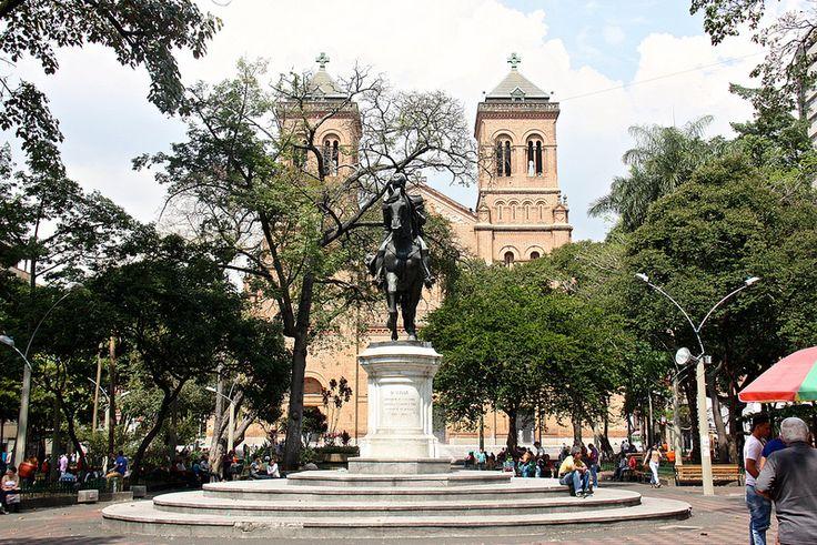 Parque de Bolivar and Catedral Metropolitana, Medellin, Colombia | by susiefleckney