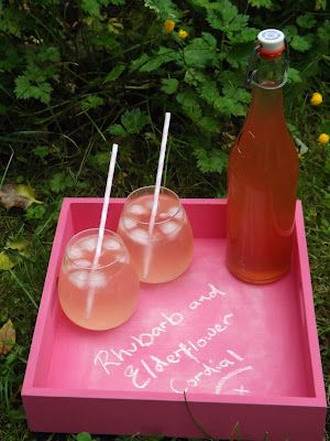 Recipe - Rhubarb and Elderflower Cordial. How to.