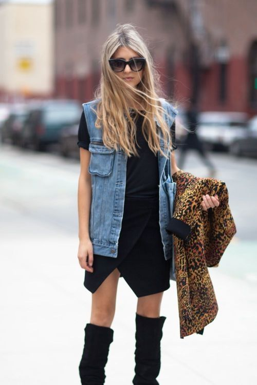 I love the look of a denim vest