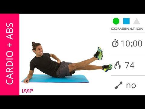 Esercizi Per Tonificare e Dimagrire La Pancia Con Cardio e Addominali - YouTube