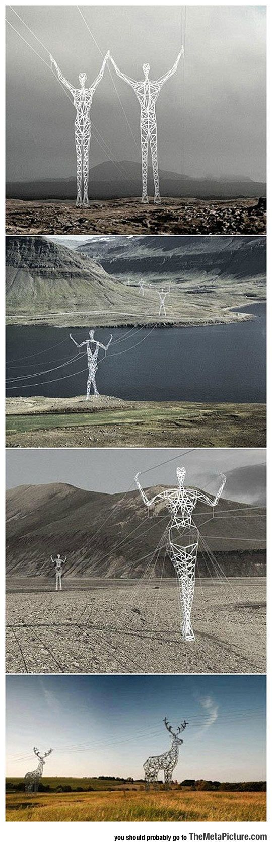 Electric Poles In Iceland - The Meta Picture