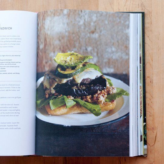 Feast by Sarah Copeland New Cookbook | A review on  @Matt Valk Chuah Kitchn {pictured: knife and fork grilled portobello sandwich}