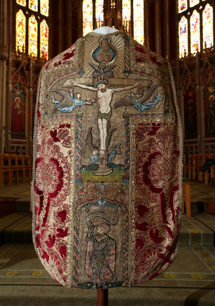 Priceless vestment from Ushaw College to be worn by Cardinal at Requiem Mass of King Richard III (From Durham Advertiser)