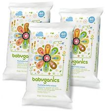 Babyganics Flushable Baby Wipes Fragrance Free 60 Count - Packaging May Vary