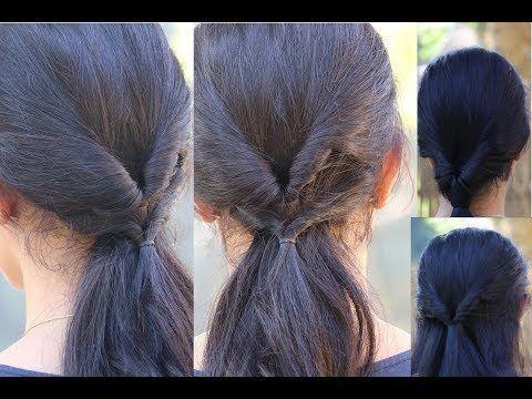 4 coiffures rapides pour école / collège / bureau - YouTube - # Coiffures #hochschule #quick #schule #youtube
