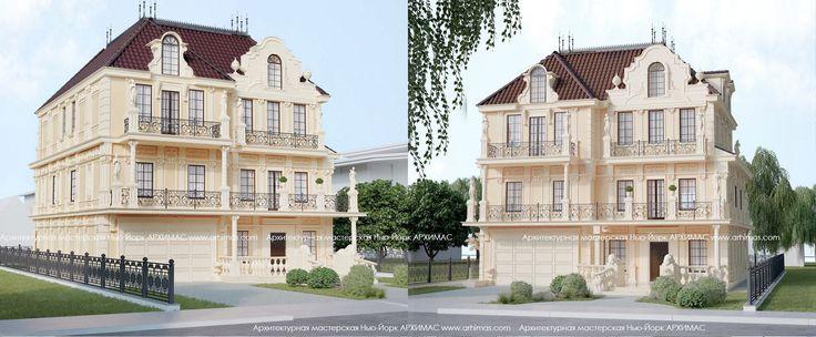Готовый проект двухэтажного жилого дома в Нью-Йорке на острове Лонг-Айленд