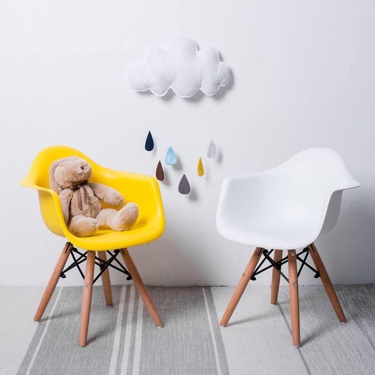 Niños libres del envío Niños muebles de madera de la base del brazo pierna de madera Niños silla Sillón silla de comedor sillas modernas