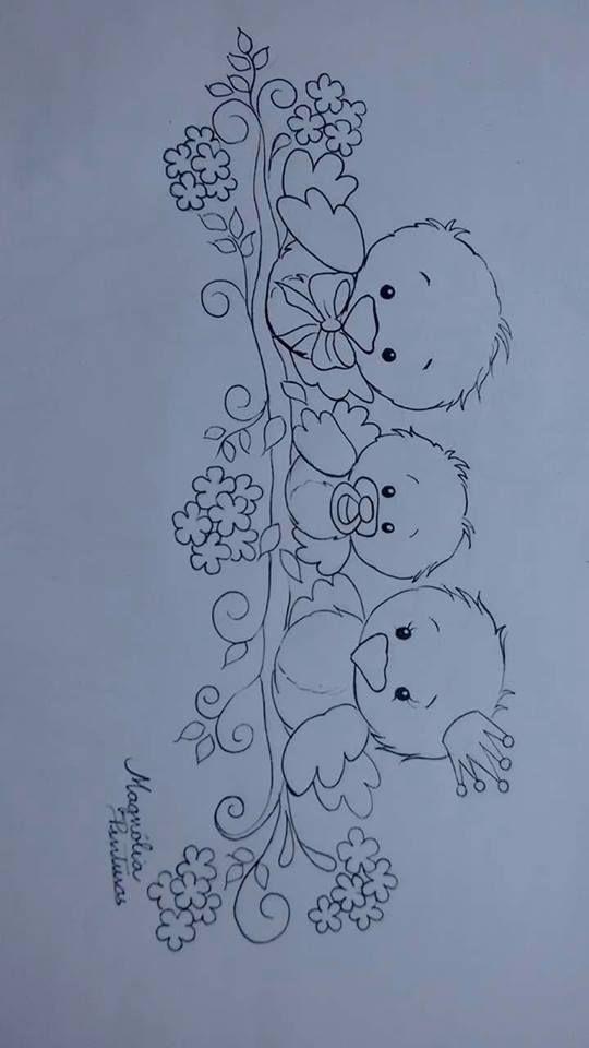 Uccellini animali baby idee per pittura su stoffa