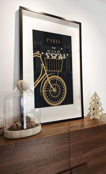 Paris Illustration Notre Dame Bicycle Drawing