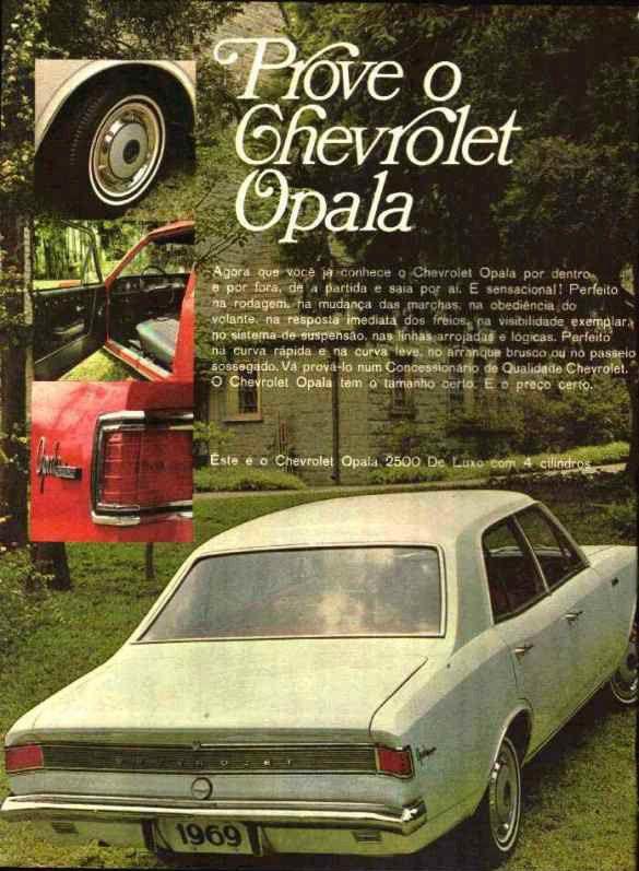 PROPAGANDAS NACIONAIS Opala 1969