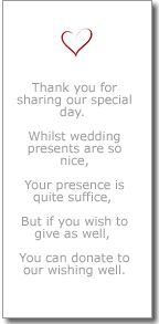 money instead of wedding gifts poem - Google Search